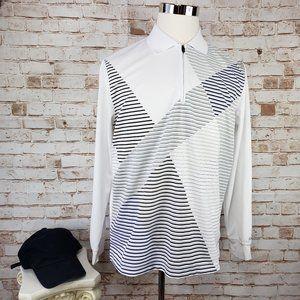 IZOD PerformX Golf M 1/4 Zip Long Sleeve Shirt Men